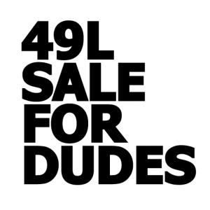 FFE - 49L Sale For Dudes Logo